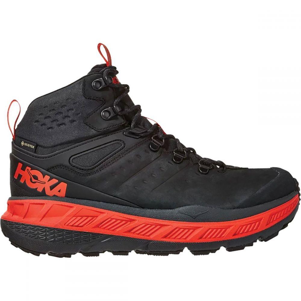 ホカ オネオネ HOKA ONE ONE メンズ ハイキング・登山 シューズ・靴【Stinson Mid GTX Hiking Shoe】Anthracite/Mandarin Red