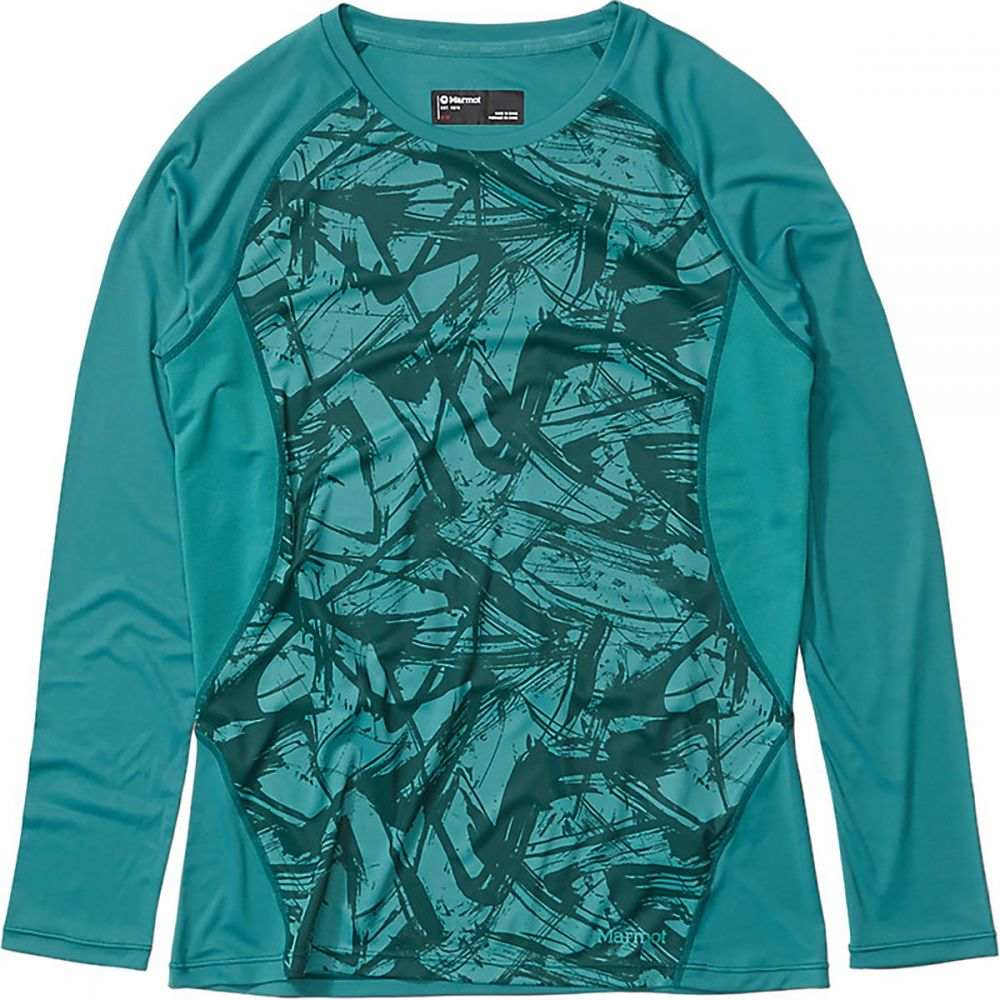 マーモット Marmot レディース 長袖Tシャツ トップス【Crystal Long - Sleeve Shirt】Deep Jungle Race Line
