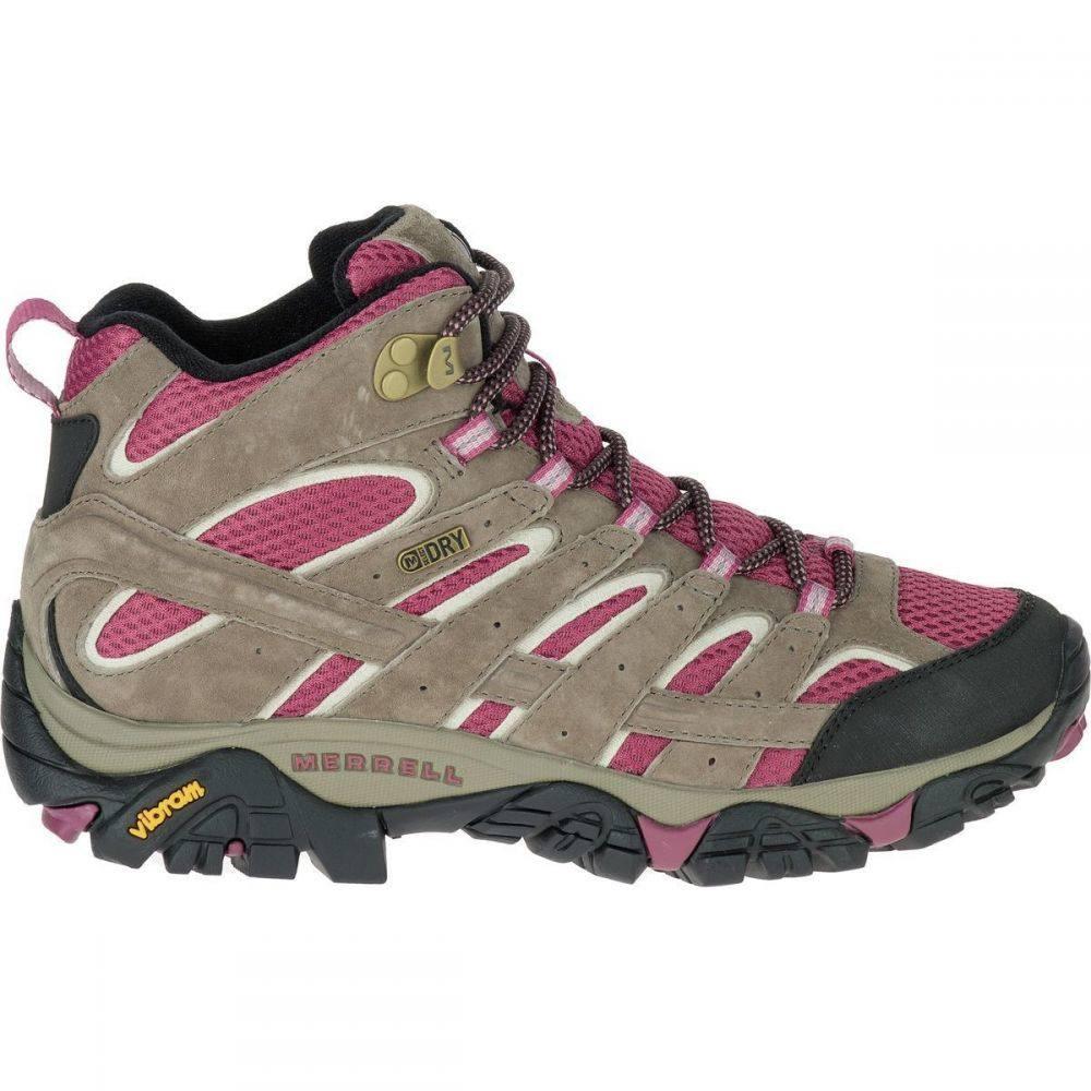メレル Merrell レディース ハイキング・登山 ブーツ シューズ・靴【Moab 2 Mid Waterproof Hiking Boot】Boulder/Blush