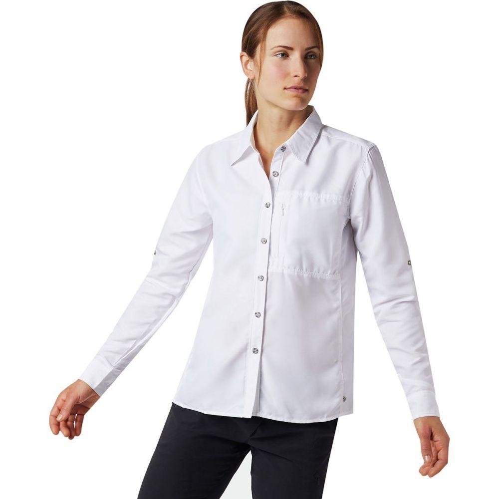 マウンテンハードウェア Mountain Hardwear レディース 長袖Tシャツ トップス【Canyon Long - Sleeve Shirt】White