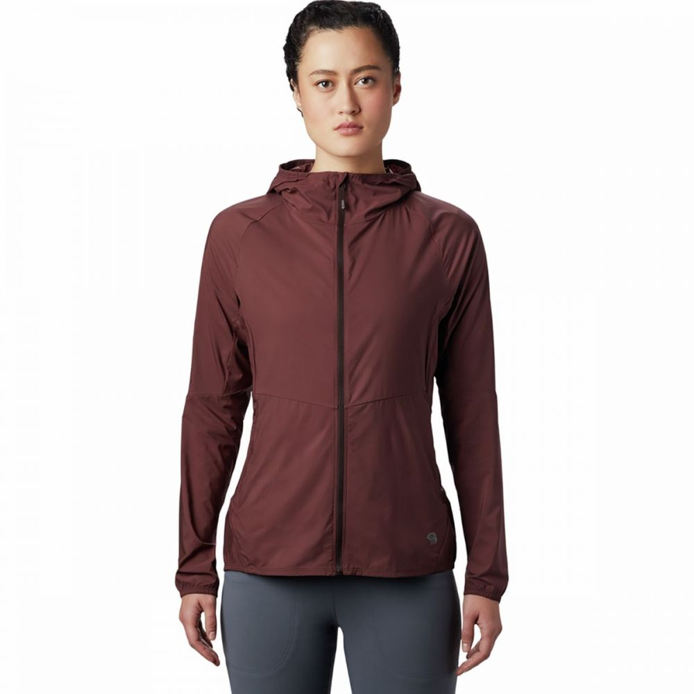 マウンテンハードウェア Mountain Hardwear レディース ジャケット フード アウター【Kor Preshell Hooded Jacket】Washed Raisin