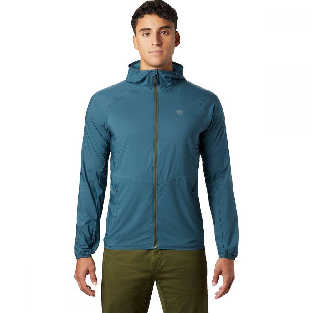 マウンテンハードウェア Mountain Hardwear メンズ ランニング・ウォーキング フード ジャケット アウター【Kor Preshell Hooded Jacket】Icelandic