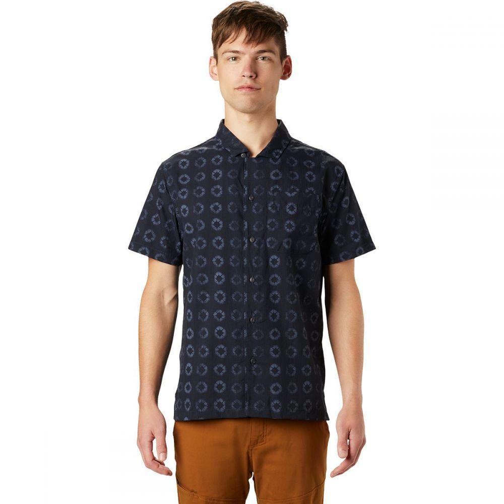 マウンテンハードウェア Mountain Hardwear メンズ 半袖シャツ トップス【El Portal Short - Sleeve Shirt】Dark Zinc Geo Print