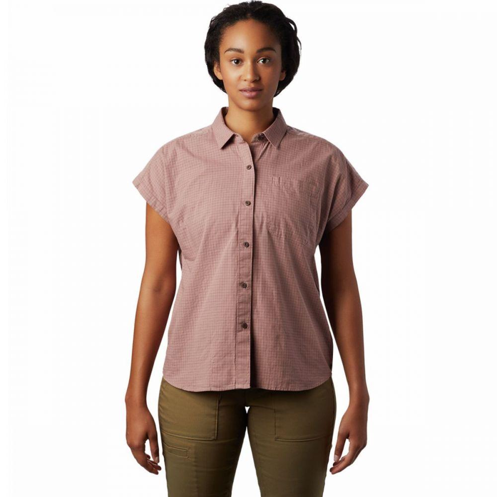 マウンテンハードウェア Mountain Hardwear レディース Tシャツ トップス【Camp Oasis Short - Sleeve Shirt】Smoky Quartz