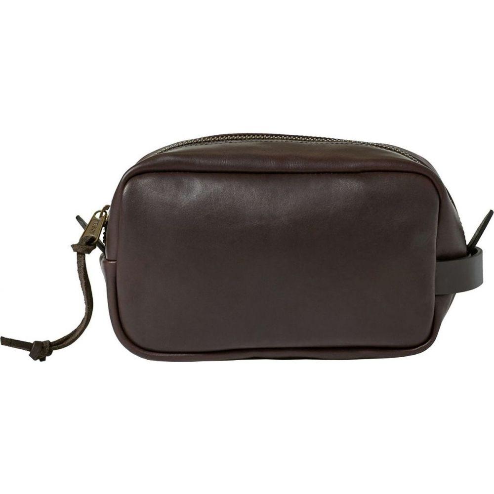 フィルソン Filson レディース ポーチ 【Weatherproof Leather Travel Case】Sierra Brown
