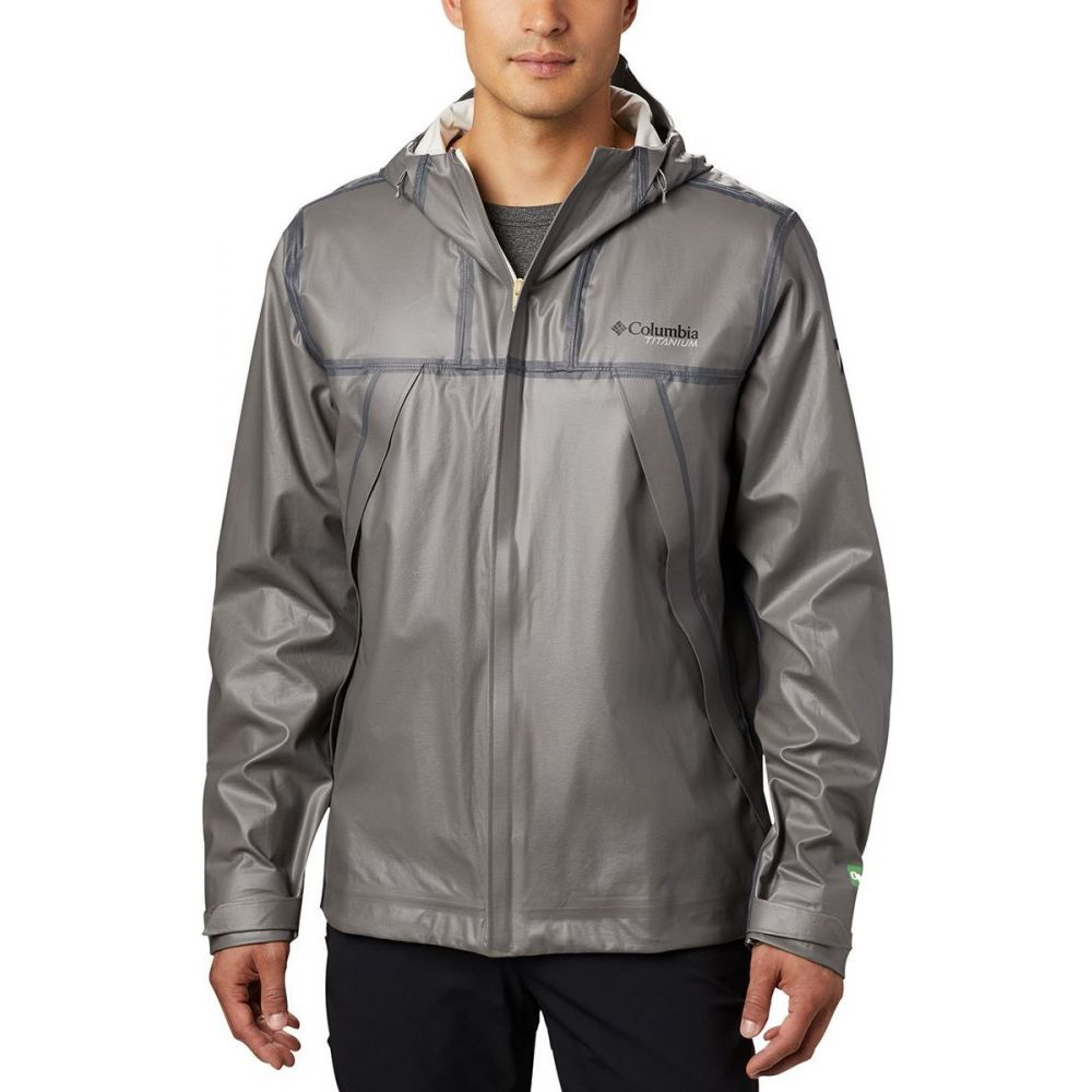 コロンビア Columbia メンズ レインコート シェルジャケット アウター【OutDry EX Eco II Tech Shell Jacket】City Grey