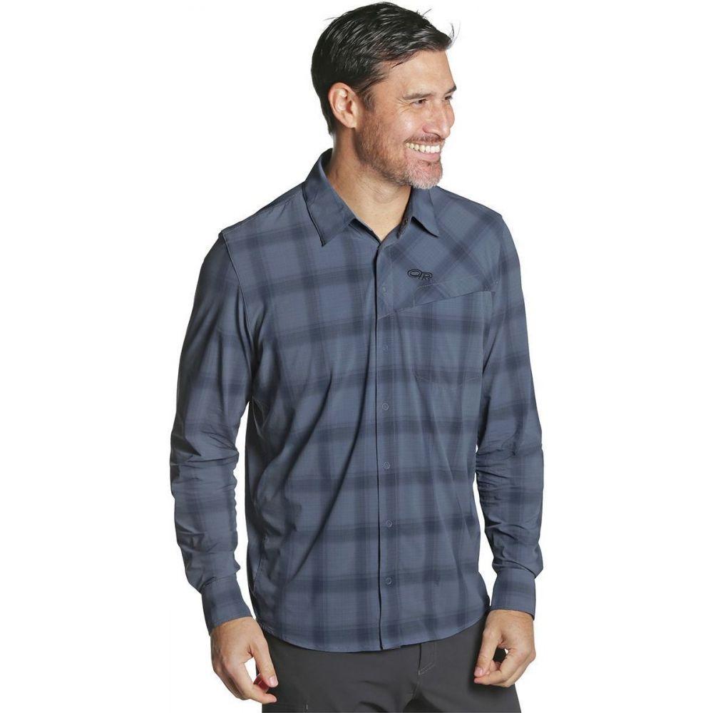 アウトドアリサーチ Outdoor Research メンズ シャツ トップス【Astroman Long - Sleeve Sun Shirt】Steel Blue