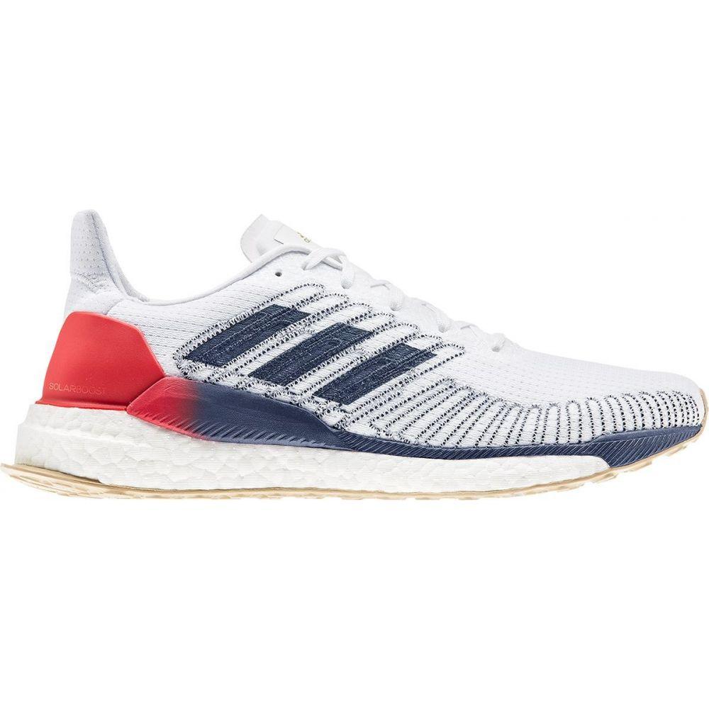 アディダス Adidas メンズ ランニング・ウォーキング シューズ・靴【Solar Boost Running Shoe】White/Silver Metallic/Scarlet