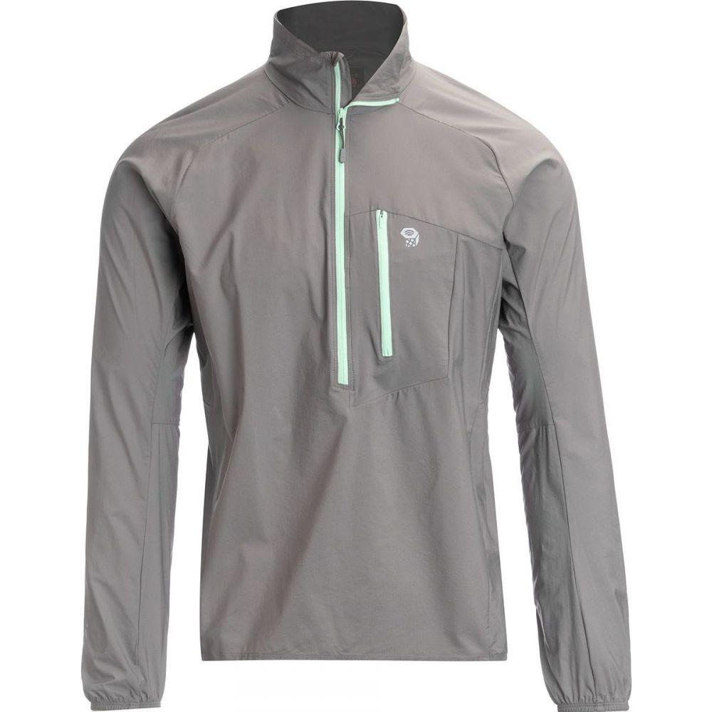 マウンテンハードウェア Mountain Hardwear メンズ ランニング・ウォーキング ジャケット アウター【Kor Preshell Pullover Jacket】Manta Grey