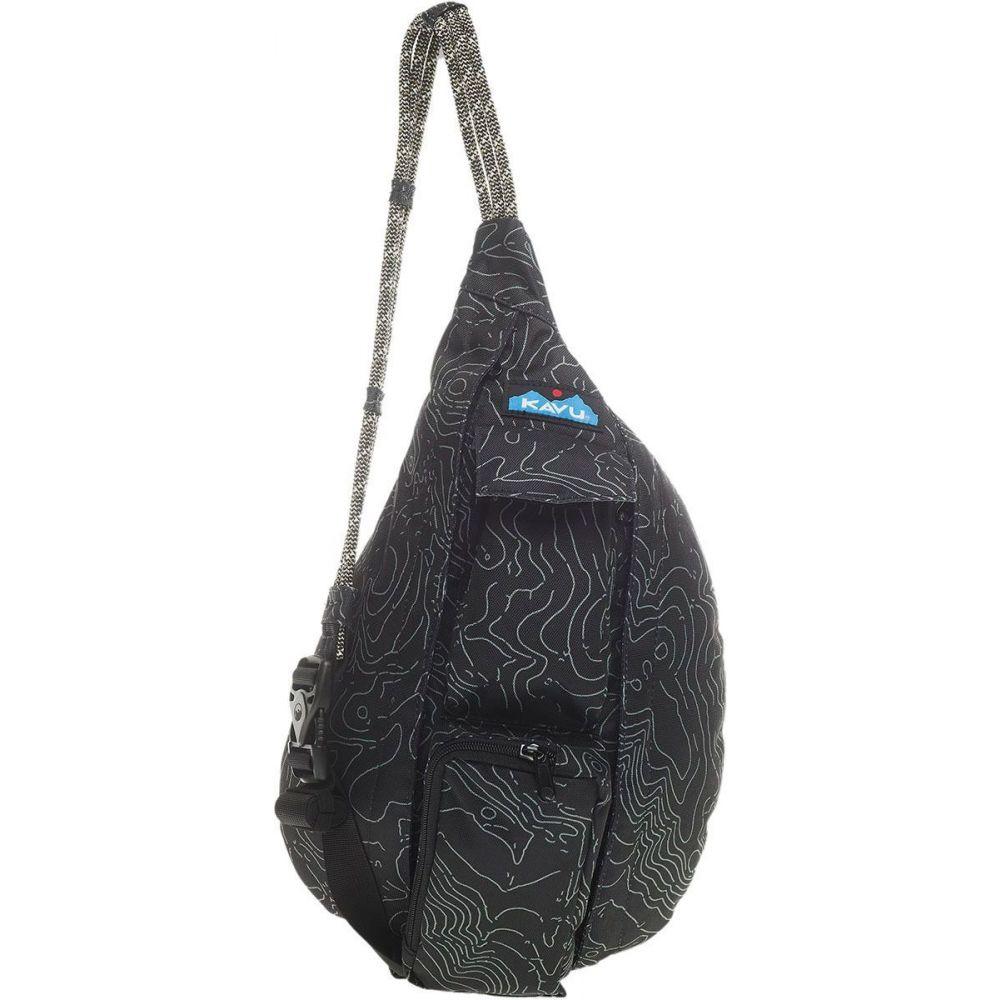 カブー KAVU レディース ボディバッグ・ウエストポーチ バッグ【Mini Rope Sling Pack】Black Topo