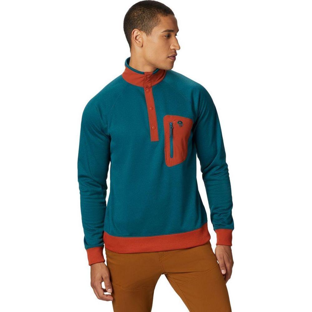 マウンテンハードウェア Mountain Hardwear メンズ フリース ハーフジップ トップス【Norse Peak 1/2 - Zip Fleece Pullover】Dive