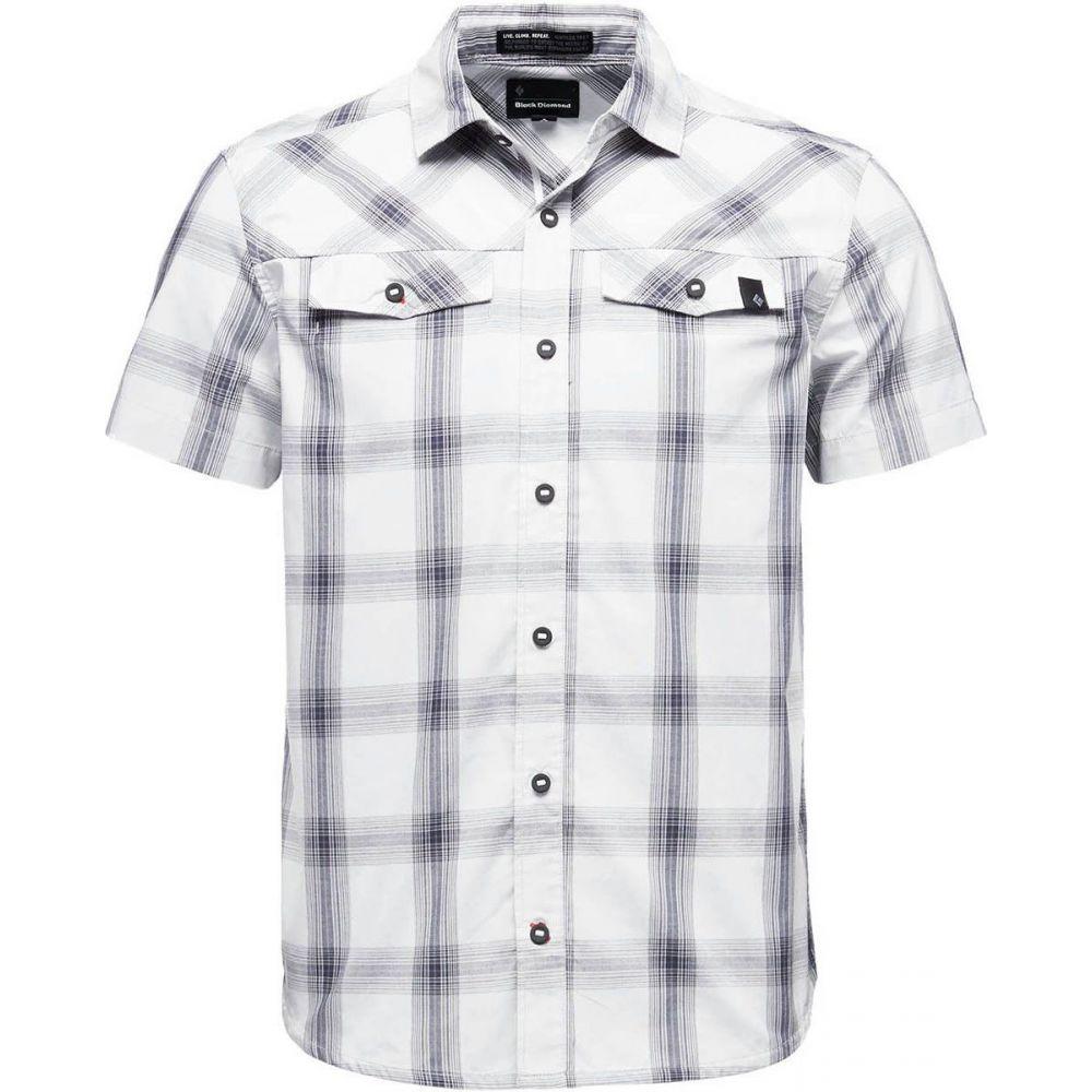 ブラックダイヤモンド Black Diamond メンズ 半袖シャツ トップス【Benchmark Short - Sleeve Shirt】Alloy/Captain/Anthracite Plaid