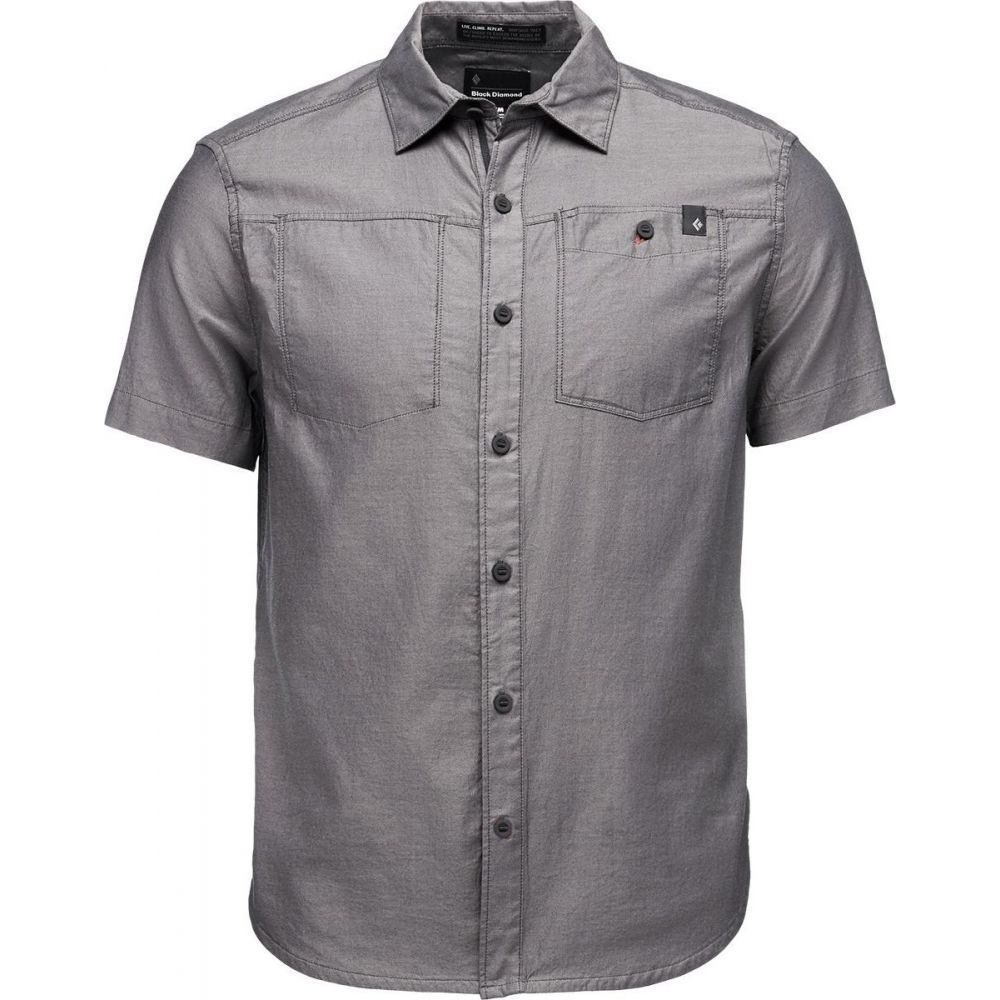ブラックダイヤモンド Black Diamond メンズ 半袖シャツ トップス【Solution Short - Sleeve Shirt】Black/Ash