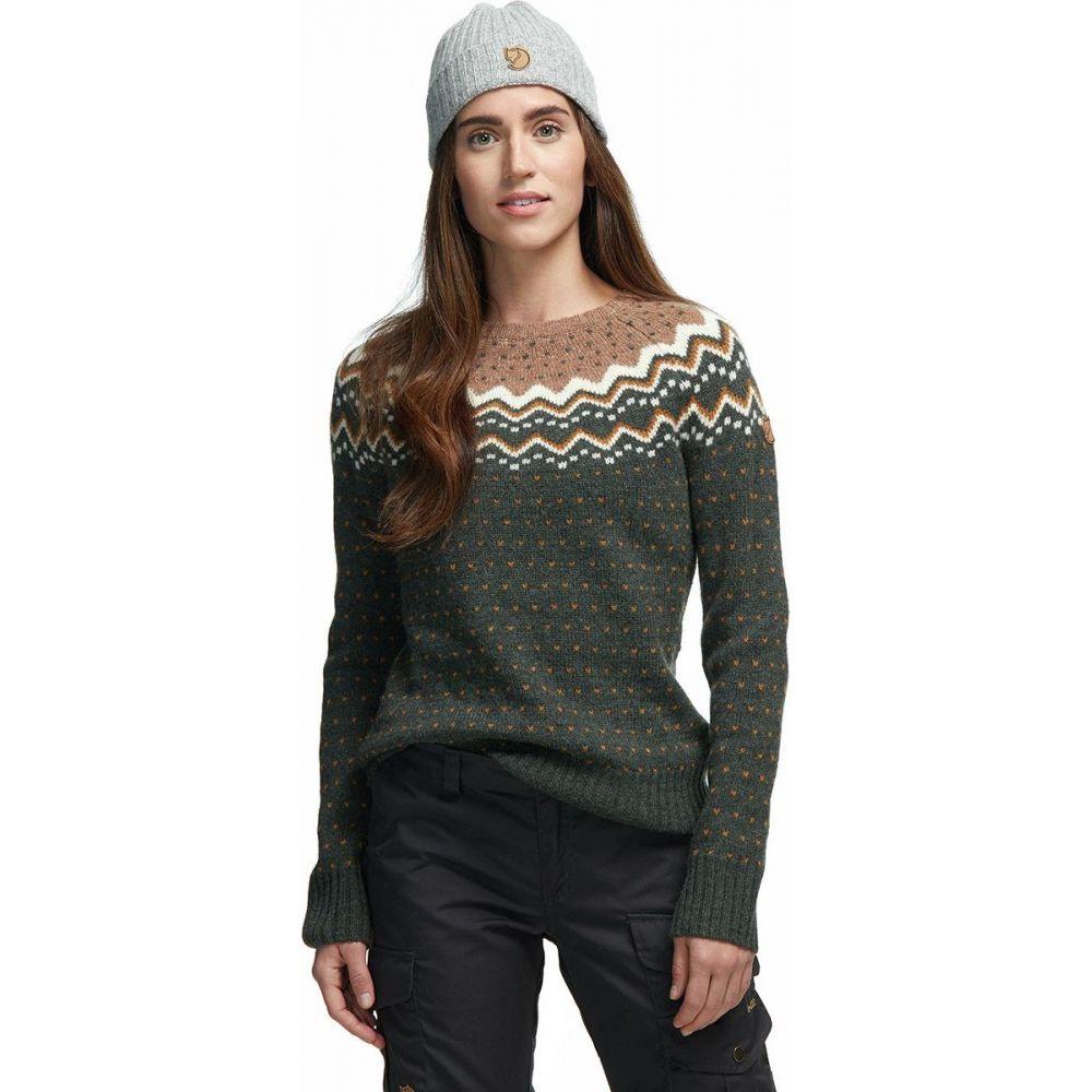フェールラーベン Fjallraven レディース ニット・セーター トップス【Ovik Knit Sweater】Deep Forest
