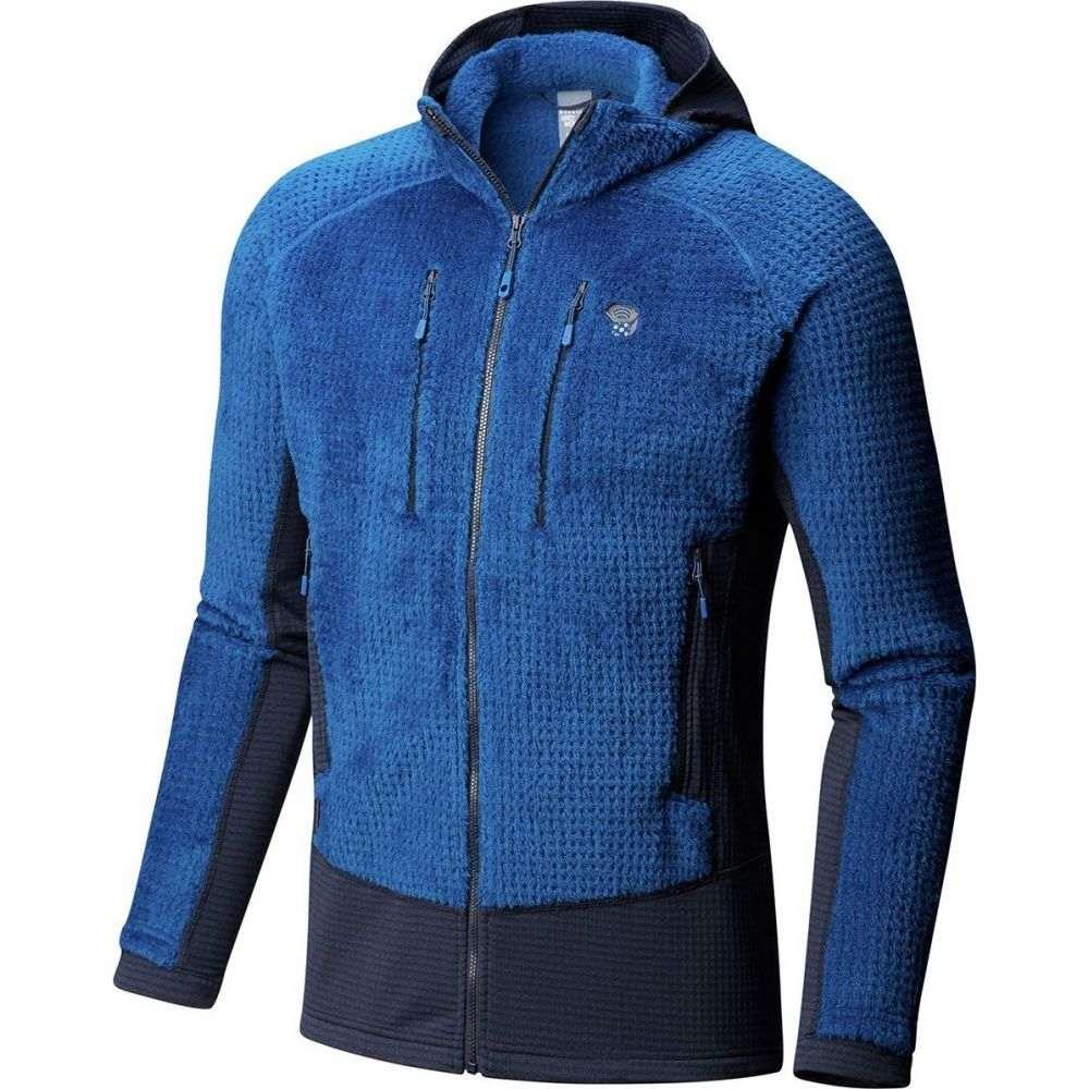 マウンテンハードウェア Mountain Hardwear メンズ フリース フード トップス【Monkey Man Grid II Hooded Fleece Jacket】Nightfall Blue