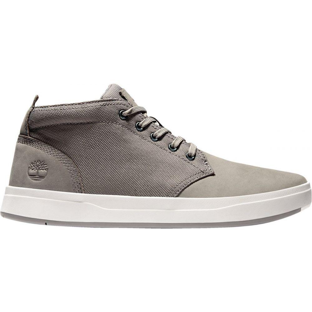 ティンバーランド Timberland メンズ シューズ・靴 チャッカブーツ【Davis Square Fabric & Leather Chukka】Medium Grey Nubuck