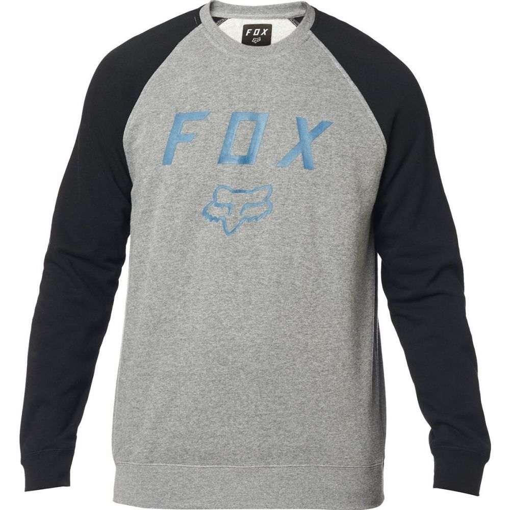 フォックス レーシング Fox Racing メンズ 自転車 ジャケット アウター【legacy fleece crew jacket】Black/Grey