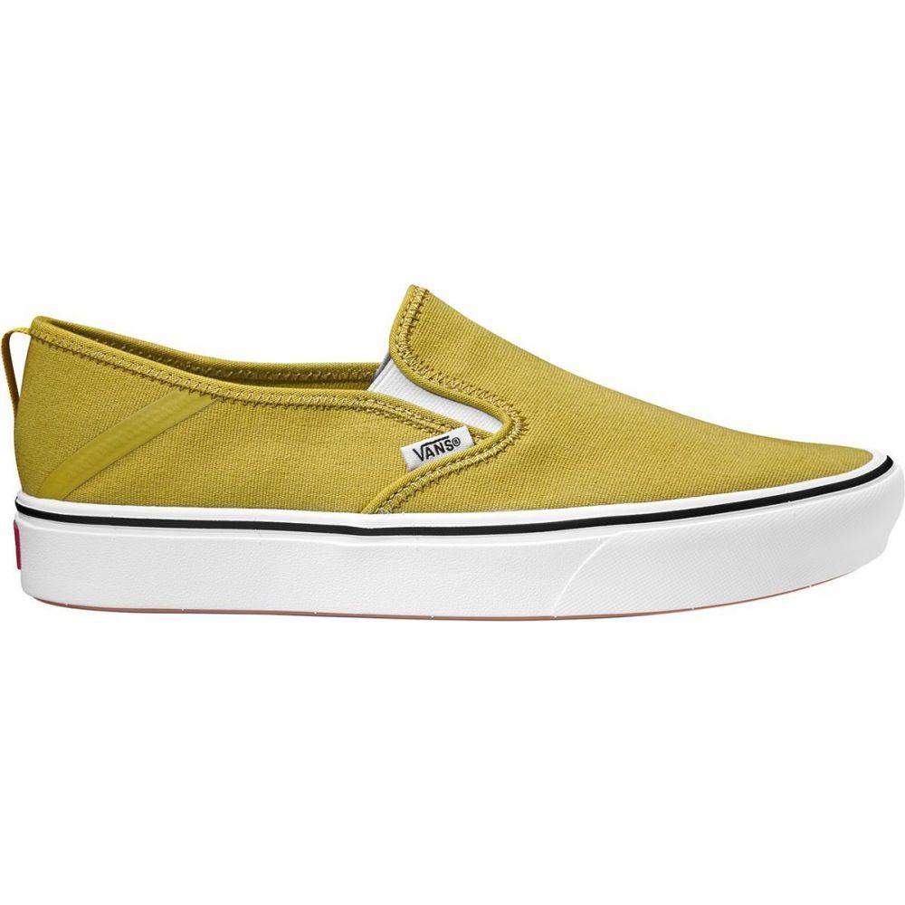 ヴァンズ Vans メンズ スリッポン・フラット シューズ・靴【comfycush slip - on sf shoe】Green Sulphur/True White