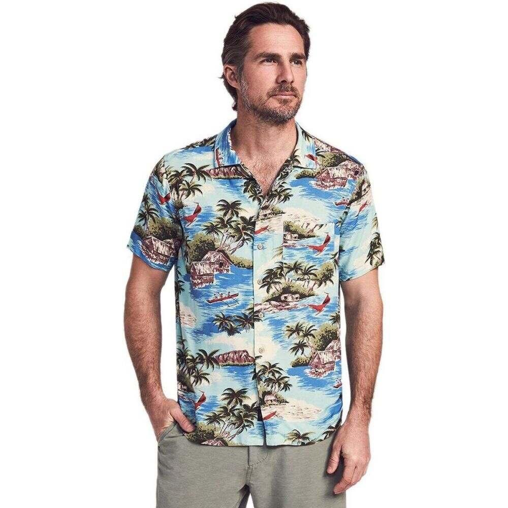 ファレティ Faherty メンズ 半袖シャツ トップス【camp shirt】Kapalua Bay