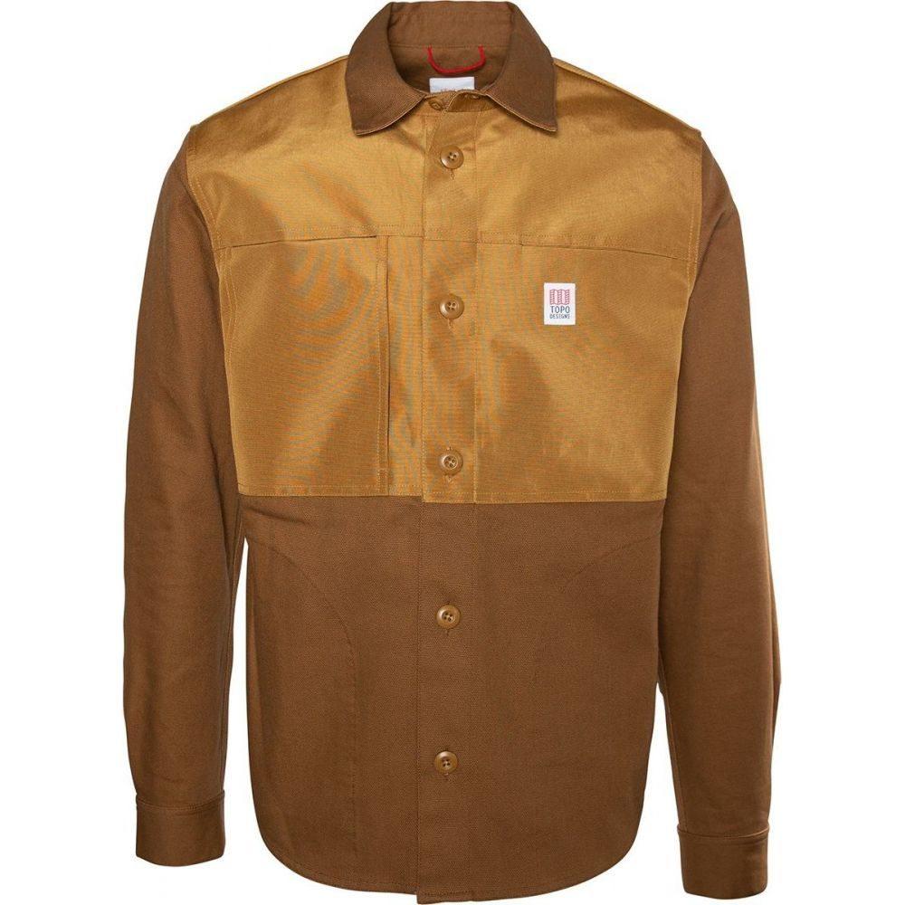 トポ デザイン Topo Designs メンズ ジャケット アウター【dual shirt】Khaki