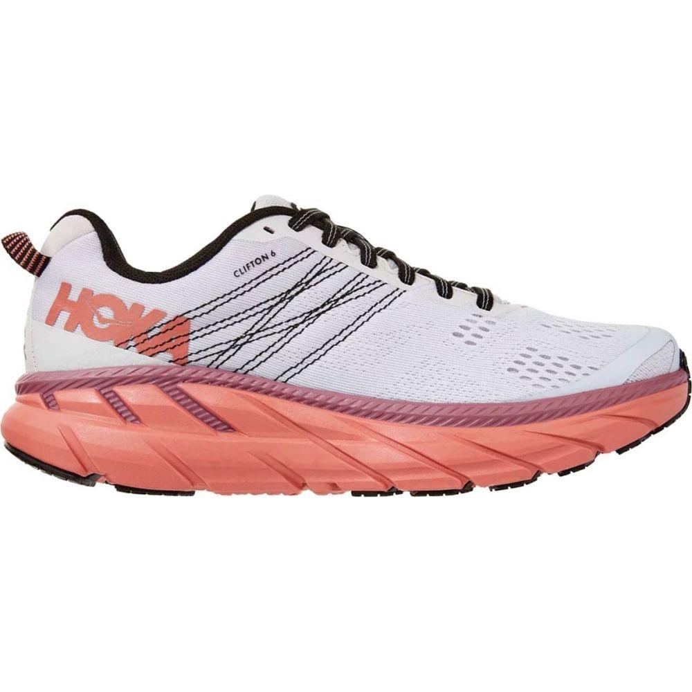 ホカ オネオネ HOKA ONE ONE レディース ランニング・ウォーキング シューズ・靴【clifton 6 running shoe】Nimbus Cloud/Lantana