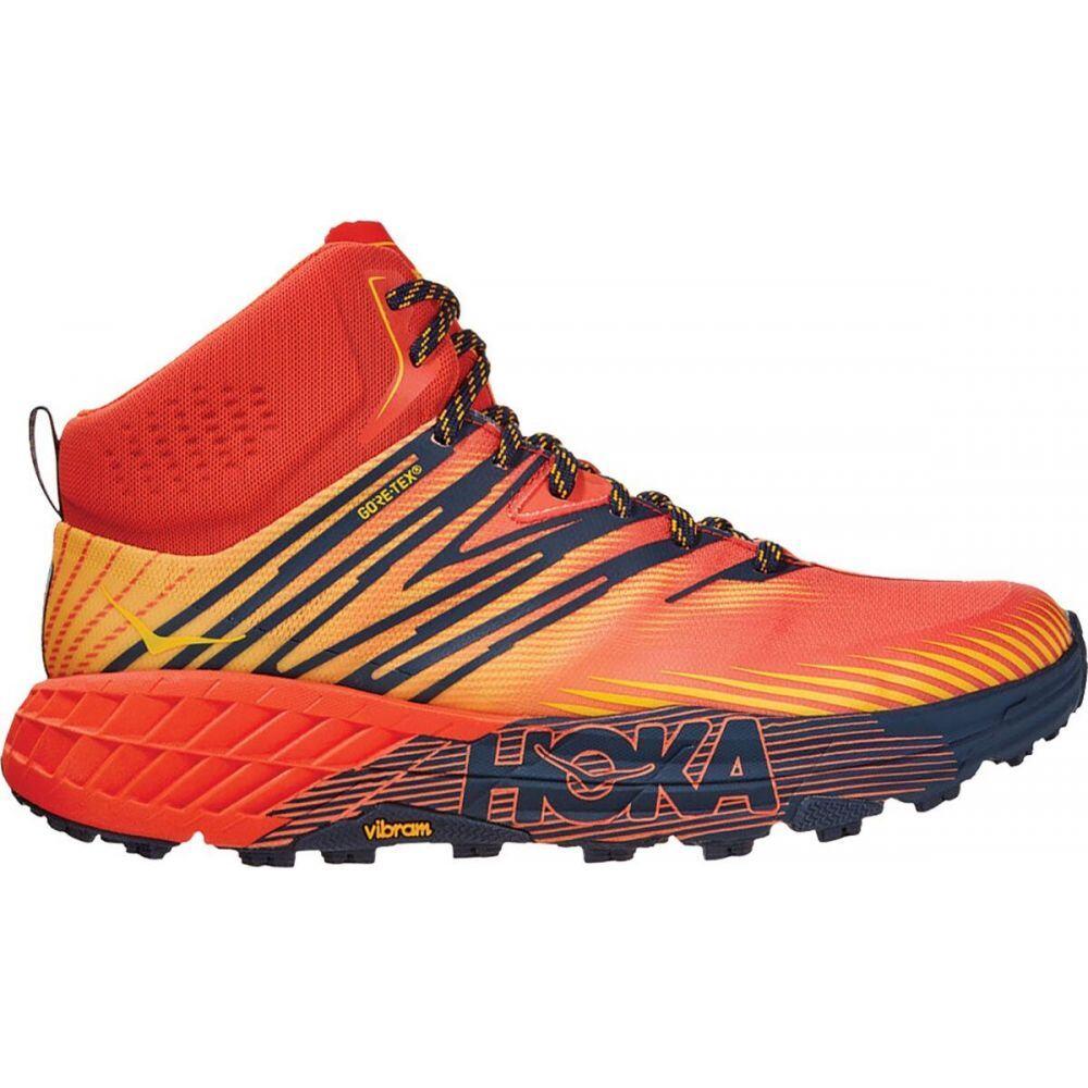 ホカ オネオネ HOKA ONE ONE メンズ ランニング・ウォーキング シューズ・靴【speedgoat mid 2 gtx trail run shoe】Mandarin Red/Gold Fusion