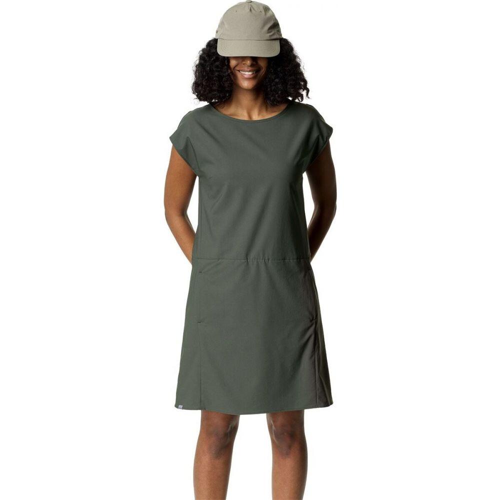 フーディニ Houdini レディース ワンピース ワンピース・ドレス【dawn dress】Willow Green