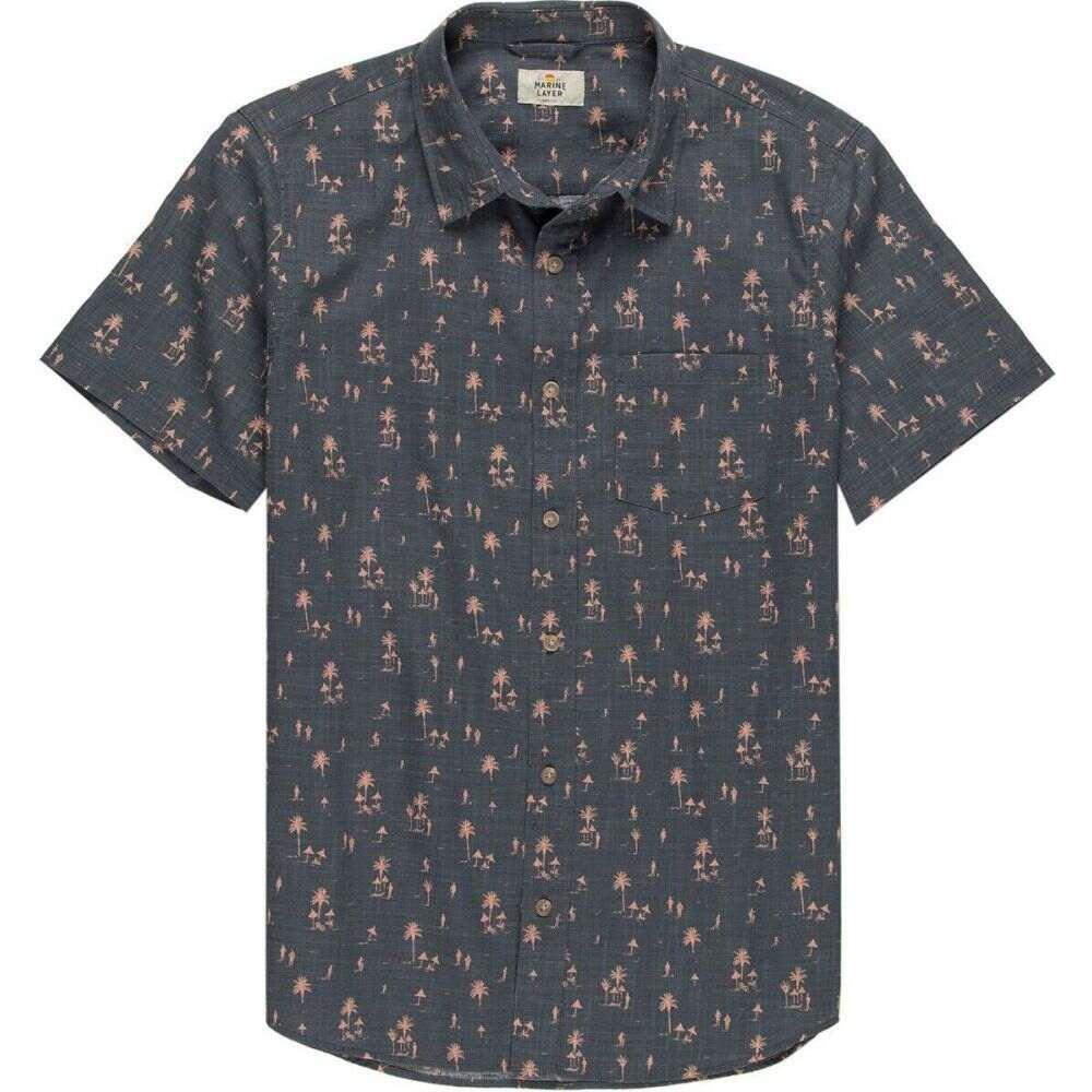 マリーン レイヤー Marine Layer メンズ 半袖シャツ トップス【conversational shirt】Cabana Print