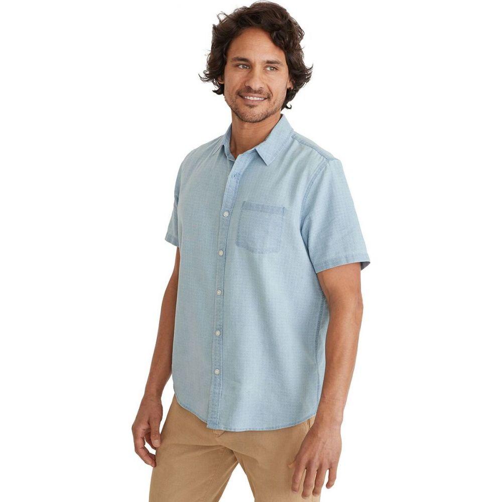 マリーン レイヤー Marine Layer メンズ 半袖シャツ トップス【mini print shirt】Blue/White Print