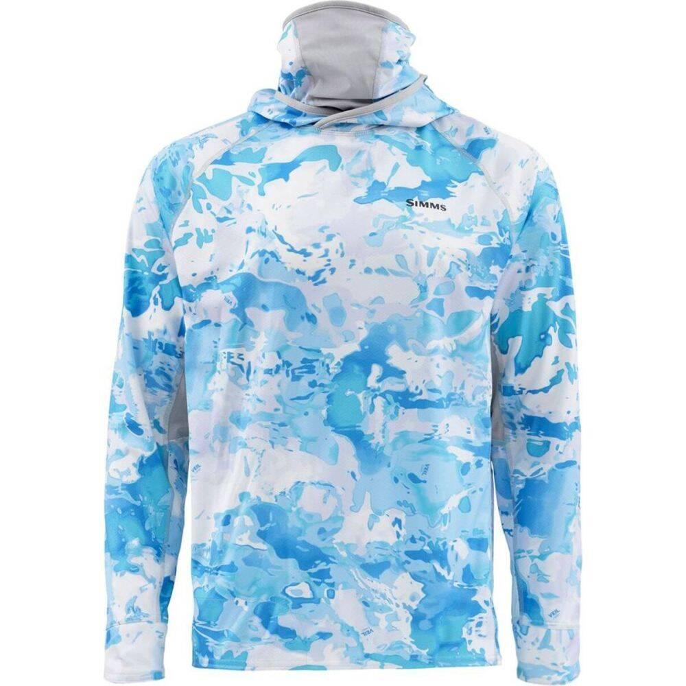 シムス Simms メンズ 釣り・フィッシング トップス【solarflex ultracool armor shirt】Cloud Camo Blue