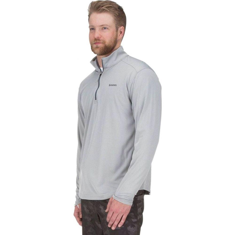シムス Simms メンズ 釣り・フィッシング ハーフジップ トップス【solarflex plus 1/2 - zip shirt】Granite