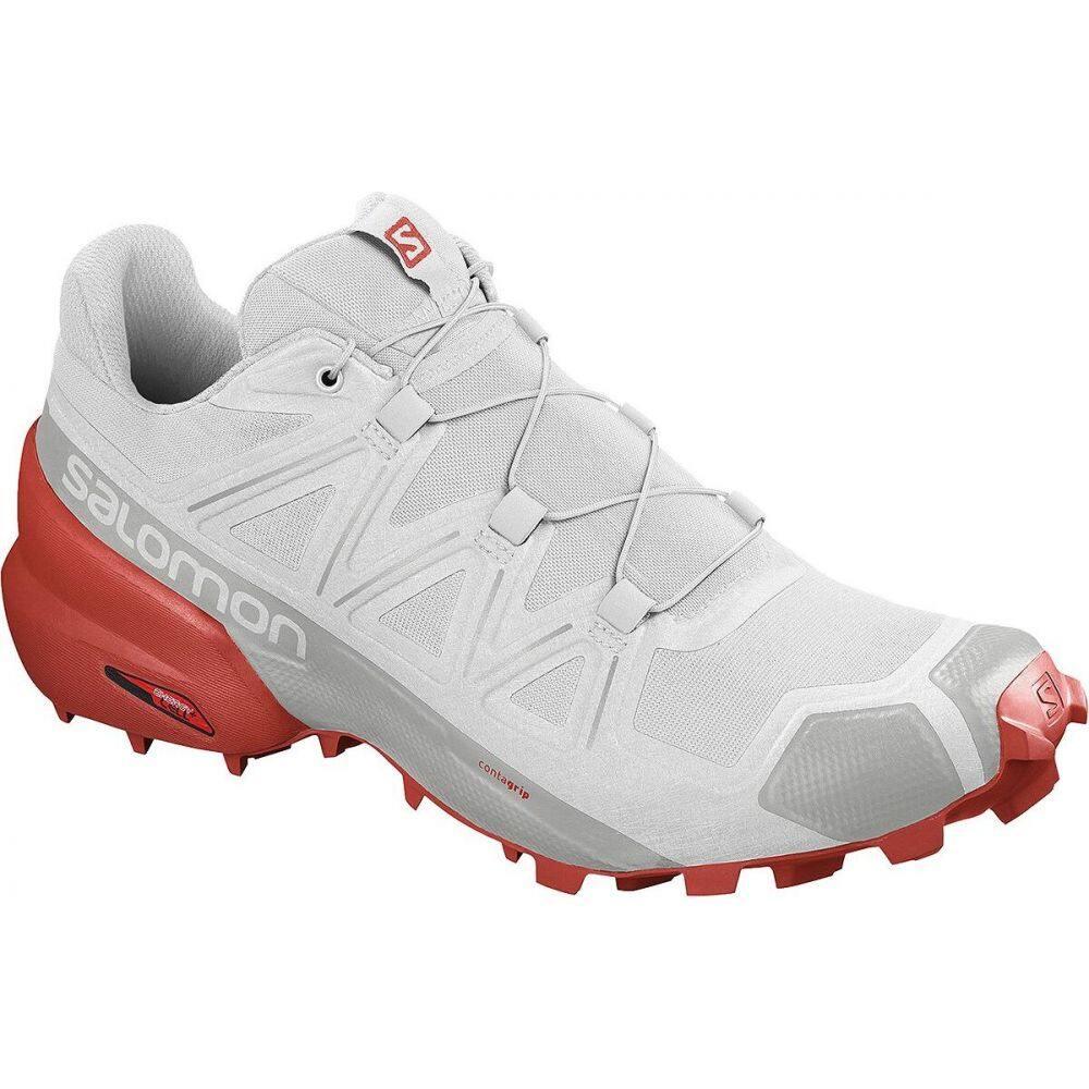 サロモン Salomon メンズ ランニング・ウォーキング シューズ・靴【Speedcross 5 Trail Running Shoe】White/White/Cherry Tomato