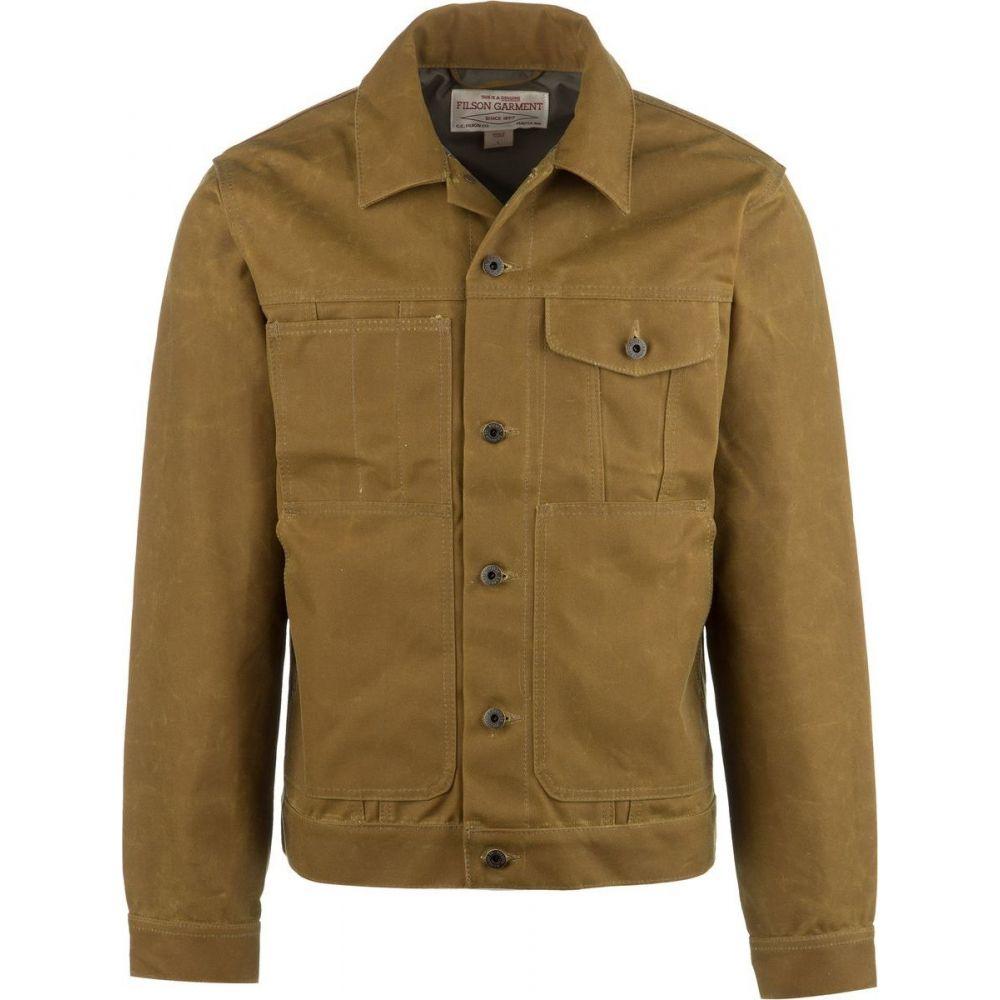 フィルソン Filson メンズ ジャケット アウター【Short Lined 15oz Oil Finish Tin Cloth Cruiser Jacket】Dark Tan