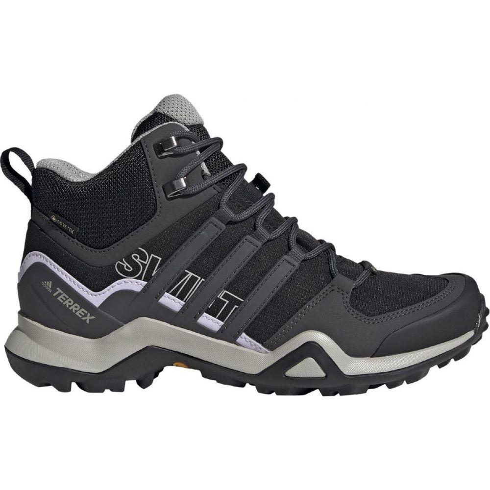アディダス Adidas Outdoor レディース ハイキング・登山 ブーツ シューズ・靴【Terrex Swift R2 Mid GTX Hiking Boot】Black/Dgh Solid Grey/Purple Tint