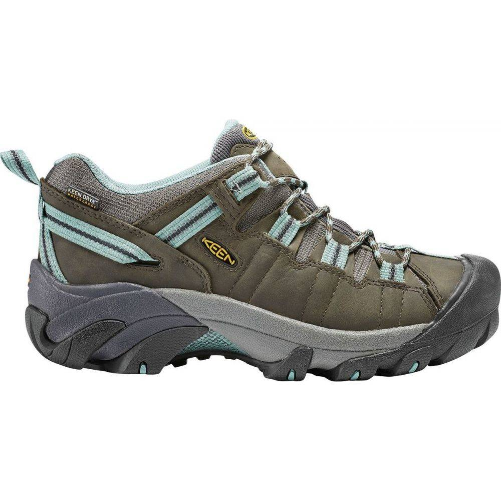 キーン KEEN レディース ハイキング・登山 シューズ・靴【Targhee II Waterproof Hiking Shoe】Black Olive/Mineral Blue