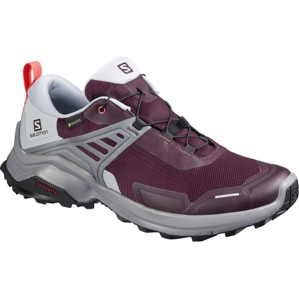 サロモン Salomon レディース ハイキング・登山 シューズ・靴【X Raise GTX Hiking Shoe】Winetasting/Quarry/Cayenne