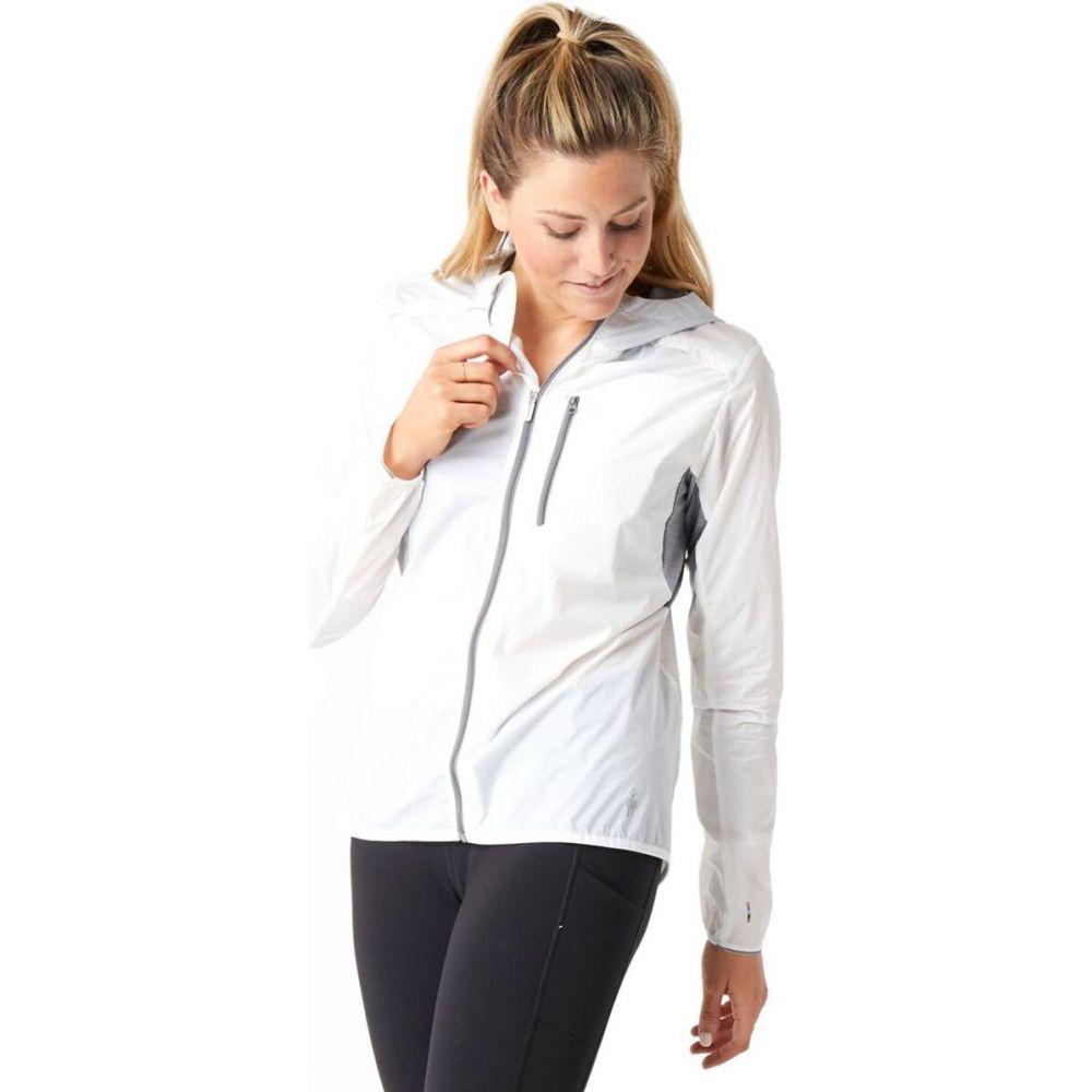 スマートウール Smartwool レディース ジャケット フード アウター【Merino Sport Ultra Light Hooded Jacket】White
