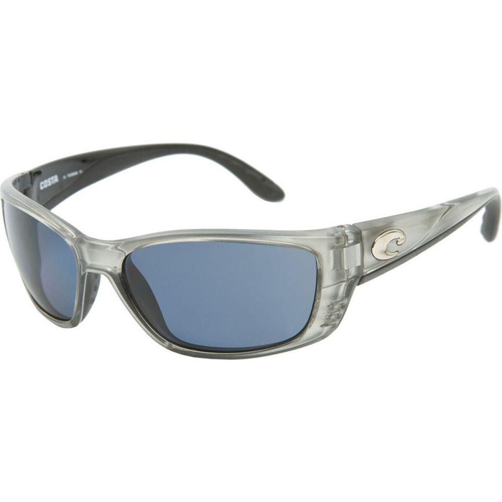 コスタ Costa レディース スポーツサングラス 【Fisch 580P Polarized Sunglasses】Silver/Gray