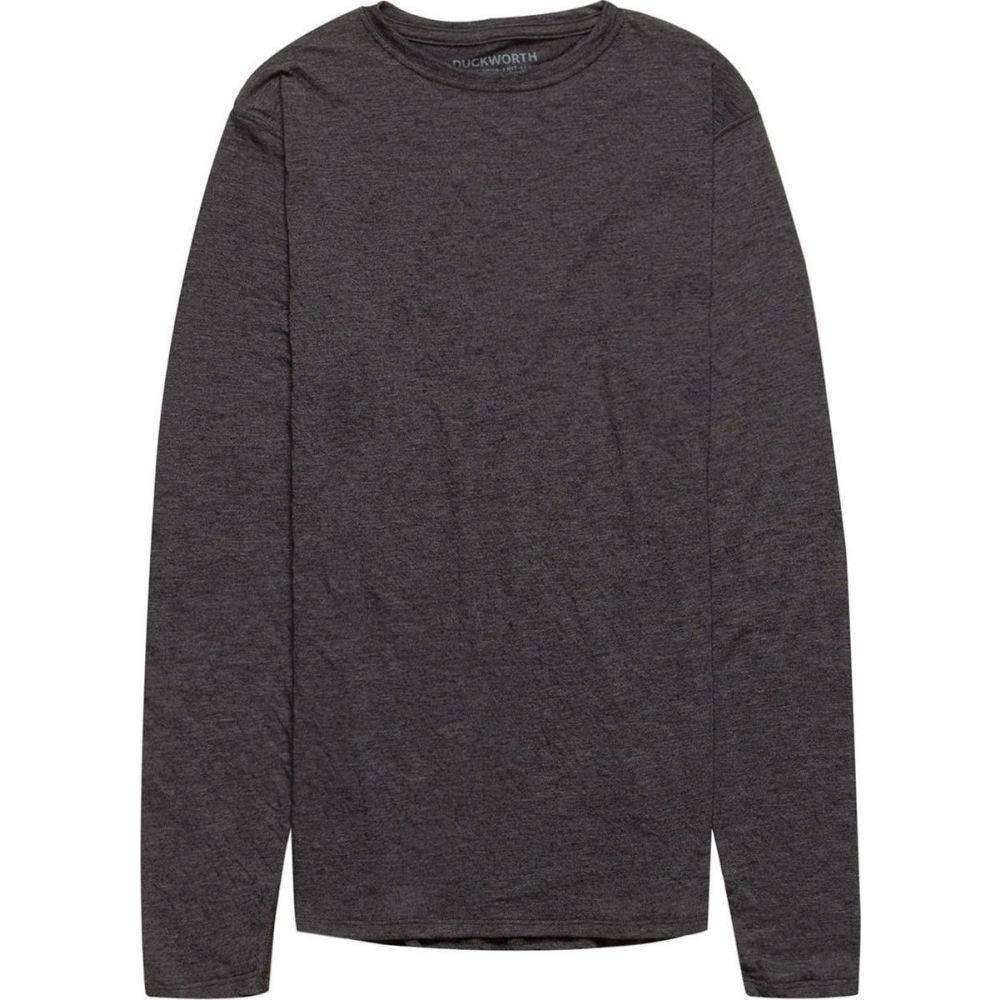 ダックワース Duckworth メンズ 長袖Tシャツ トップス【Vapor Wool Long - Sleeve Crew】Charcoal