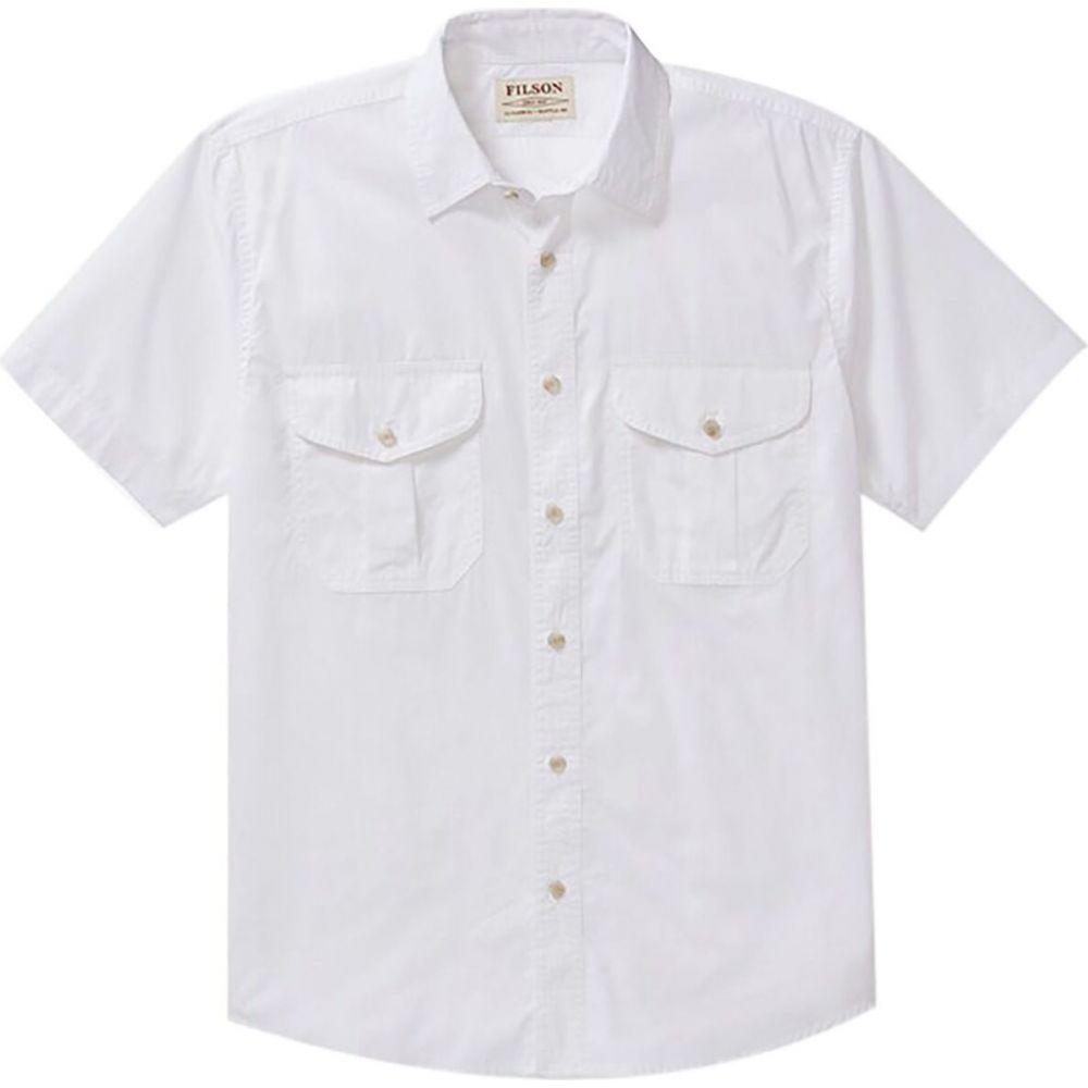 フィルソン Filson メンズ 半袖シャツ トップス【's Feather Cloth Shirt】White
