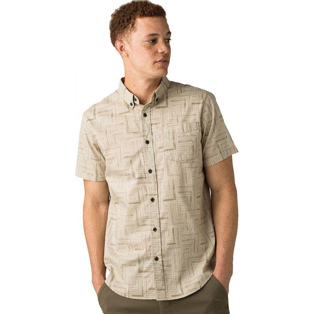 プラーナ Prana メンズ 半袖シャツ トップス【Broderick Slim Short - Sleeve Shirt】Dark Khaki Tile