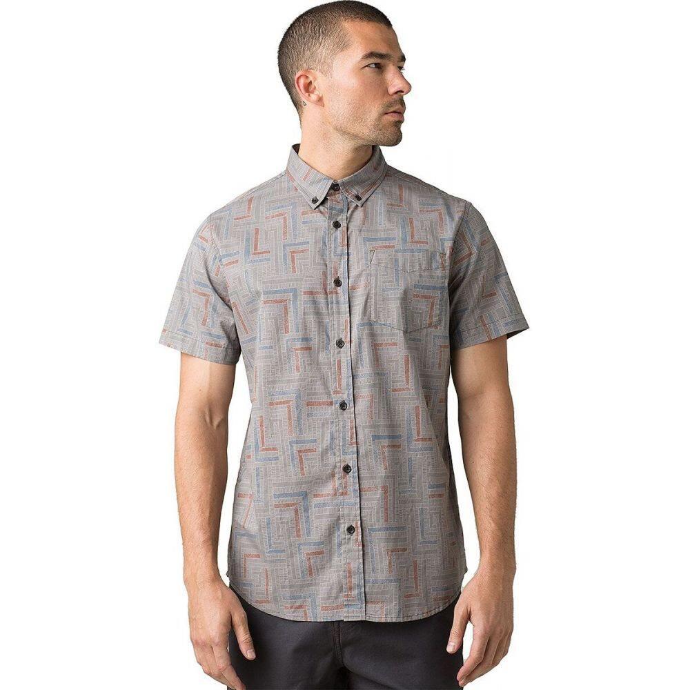 プラーナ Prana メンズ 半袖シャツ トップス【Broderick Slim Short - Sleeve Shirt】Gravel Tile