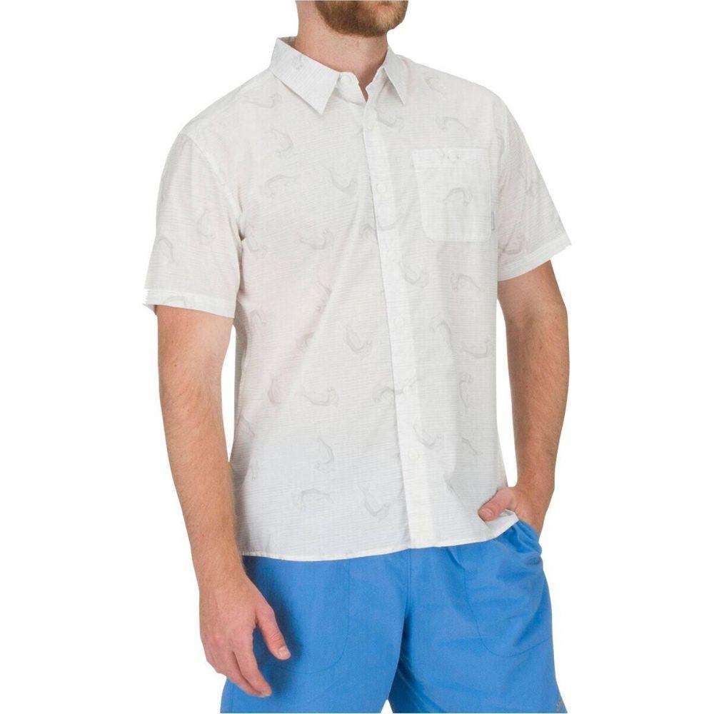 シムス Simms メンズ 半袖シャツ トップス【Tailout Short - Sleeve Shirt】Tarpon Time White