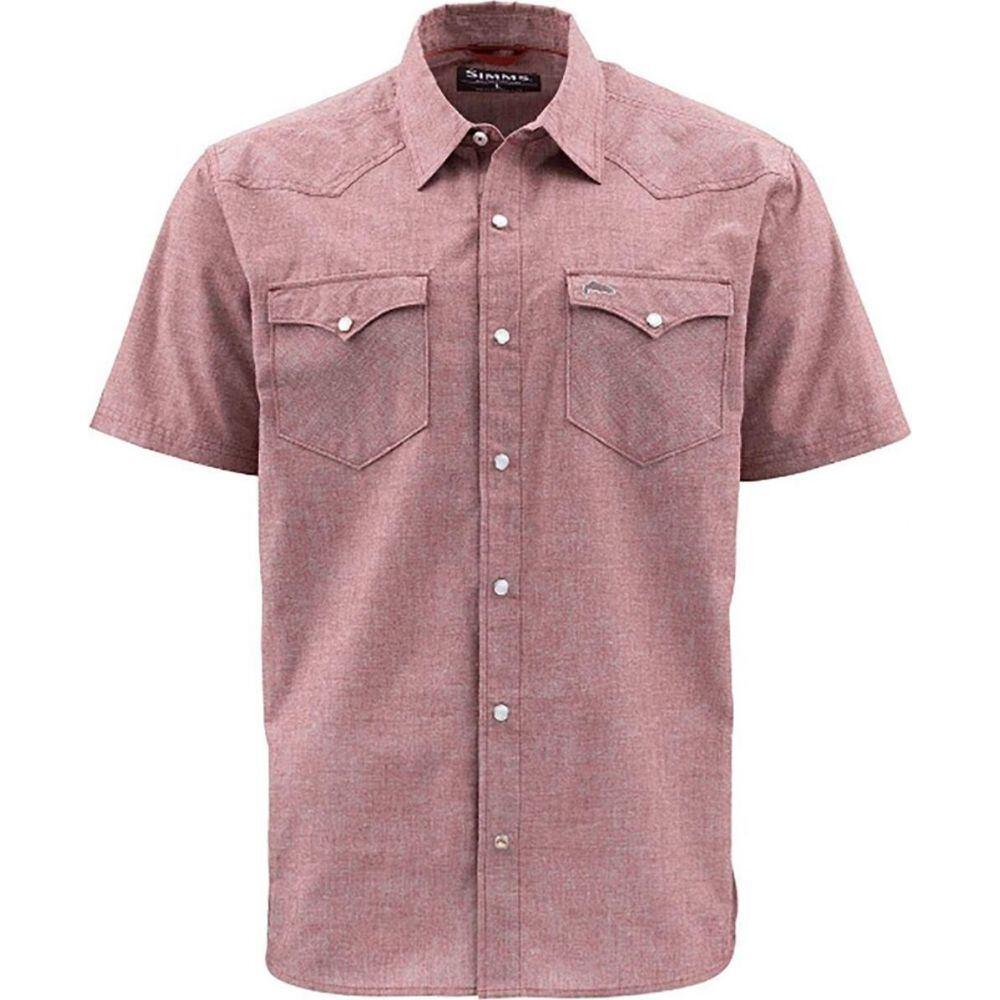 シムス Simms メンズ 半袖シャツ トップス【No - Tellum Short - Sleeve Shirt】Rusty Red Chambray