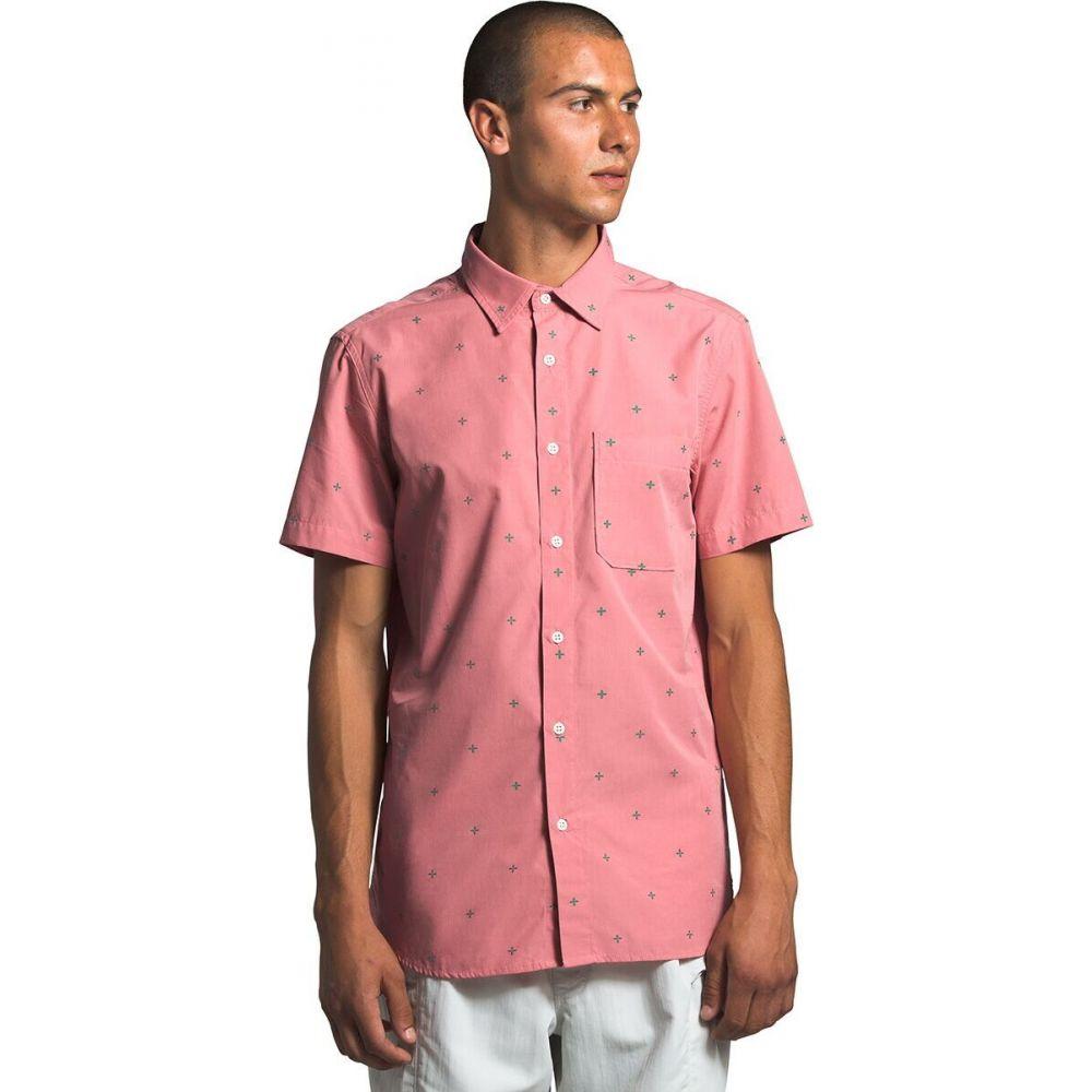 ザ ノースフェイス The North Face メンズ 半袖シャツ トップス【Short Sleeve Baytrail Shirt】Mauveglow Cross Clip Jacquard