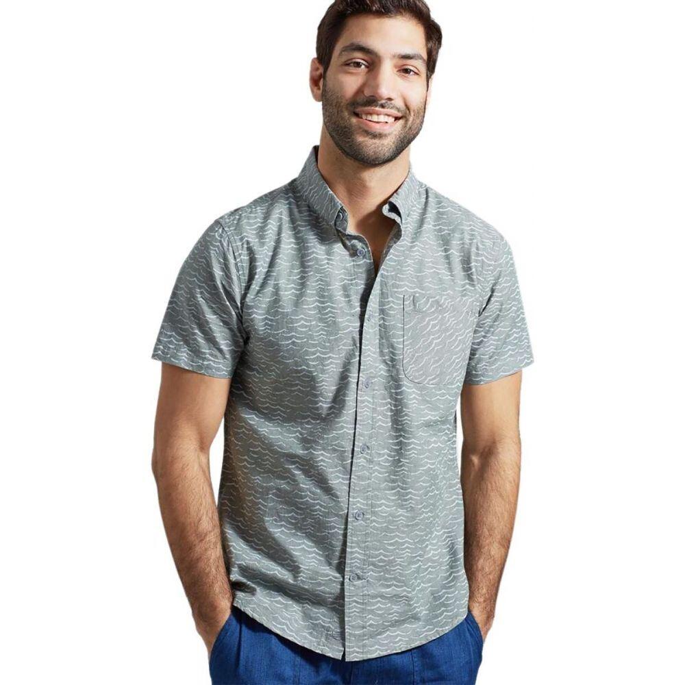 ユナイテッドバイブルー United by Blue メンズ 半袖シャツ トップス【Natural Button - Down Short - Sleeve Shirt】Moss Green