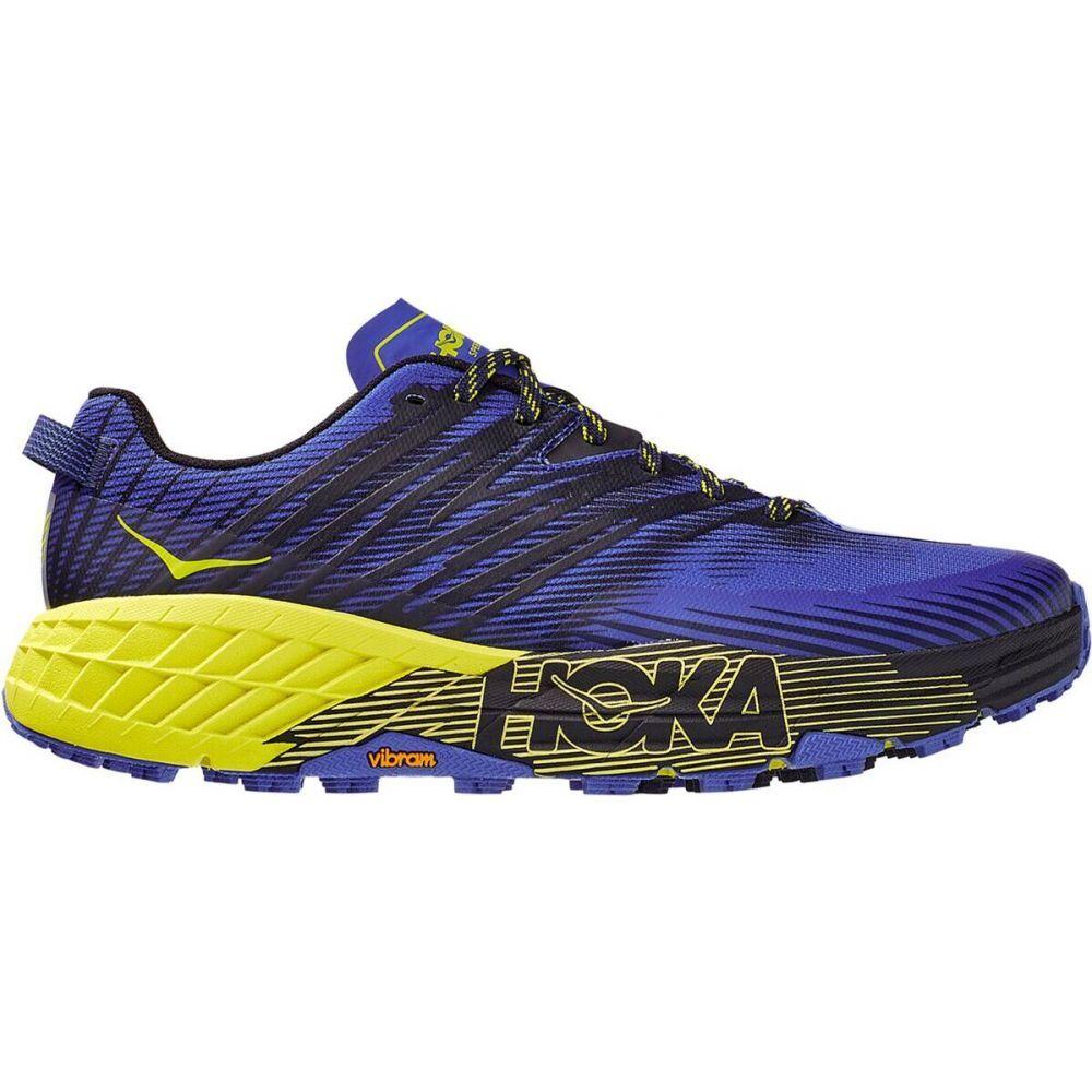 ホカ オネオネ HOKA ONE ONE メンズ ランニング・ウォーキング シューズ・靴【Speedgoat 4 Running Shoe】Black Iris/Evening Primrose