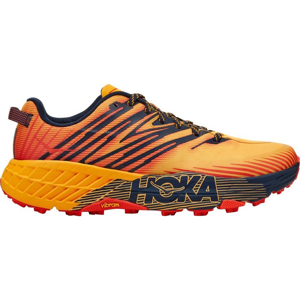 ホカ オネオネ HOKA ONE ONE メンズ ランニング・ウォーキング シューズ・靴【Speedgoat 4 Running Shoe】Gold Fusion/Black Iris