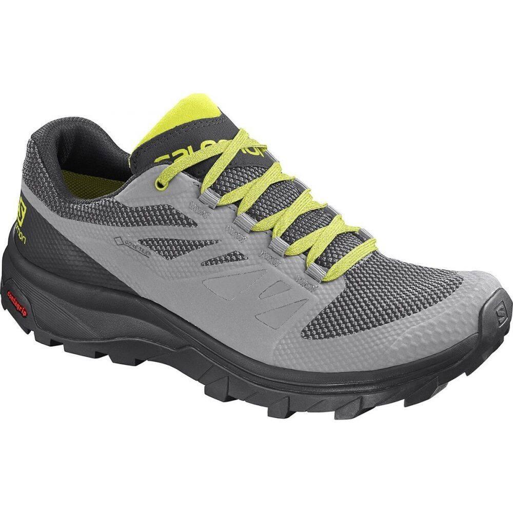サロモン Salomon メンズ ハイキング・登山 シューズ・靴【Outline GTX Hiking Shoe】Alloy/Black/Evening Primrose
