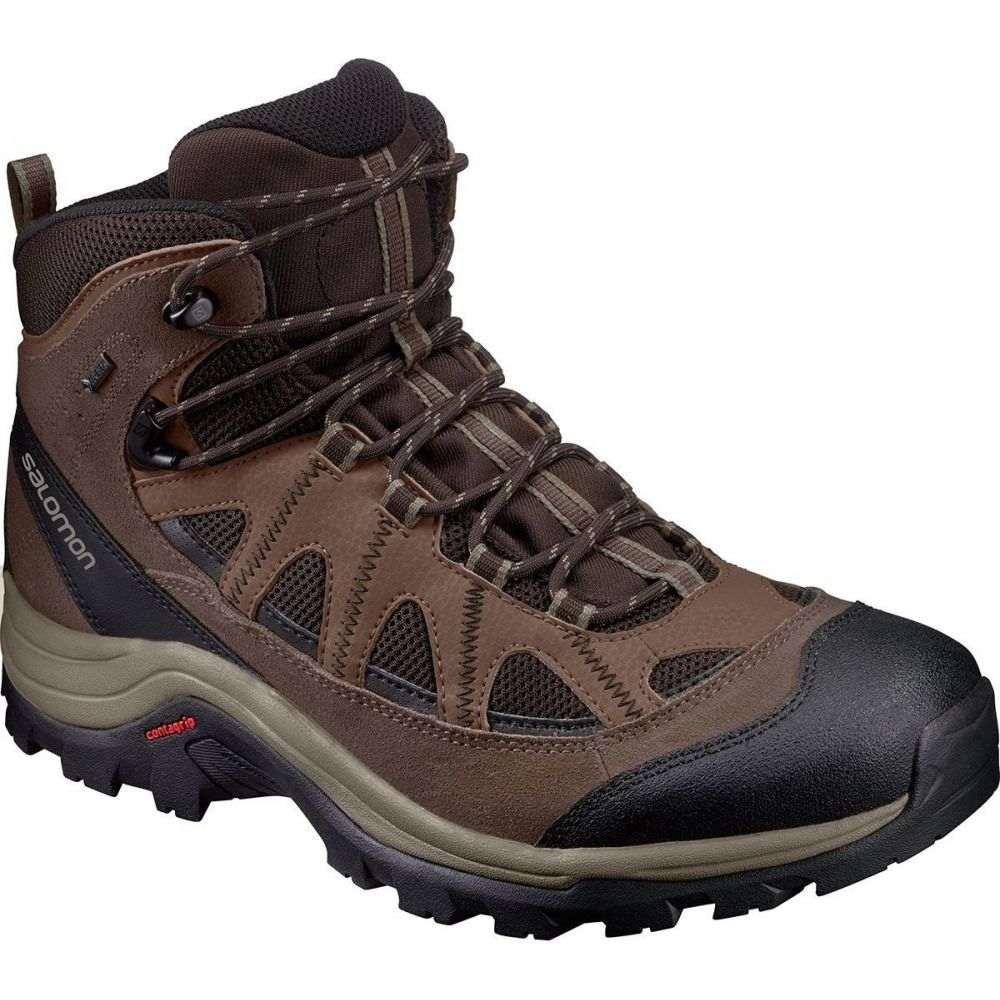 サロモン Salomon メンズ ハイキング・登山 ブーツ シューズ・靴【Authentic LTR GTX Backpacking Boot】Black Coffee/Chocolate Brown/Vintage Kaki